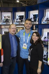 Tom and Tracy Hazzard with Braydon Moreno of Robo 3D at CES 2016