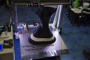 Titan 3D printer creating a coffee table base at CES 2016