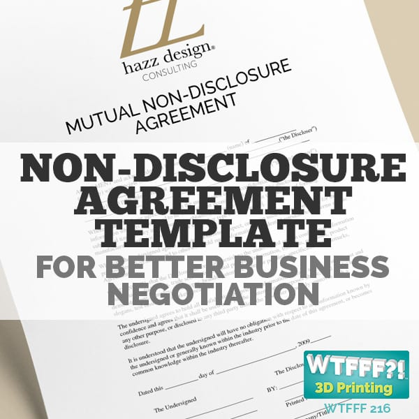 WTFFF 216 | Non-disclosure Agreement Template