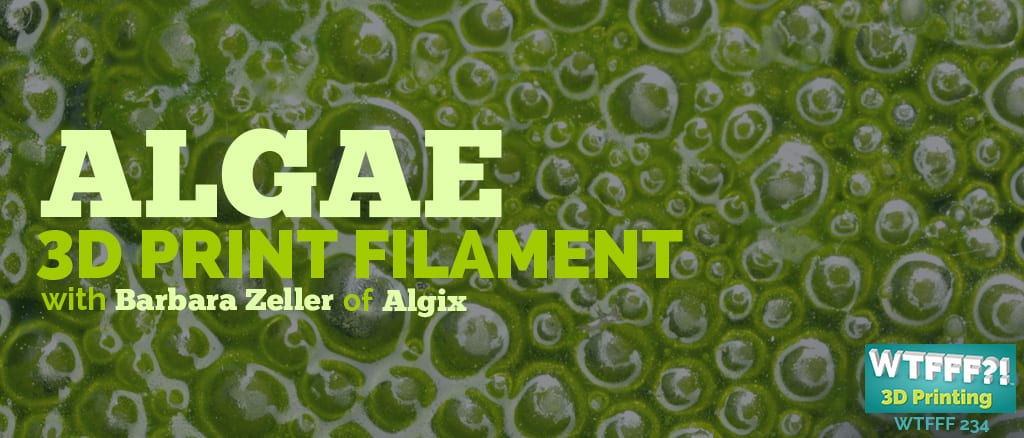 WTFFF 234   Algae 3D Print Filament