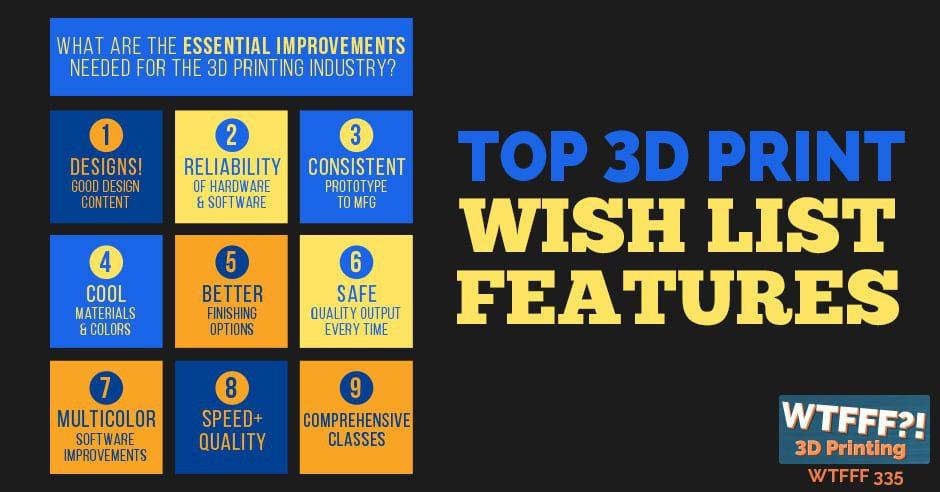 WTFFF 335   Top 3D Print Wish List Features