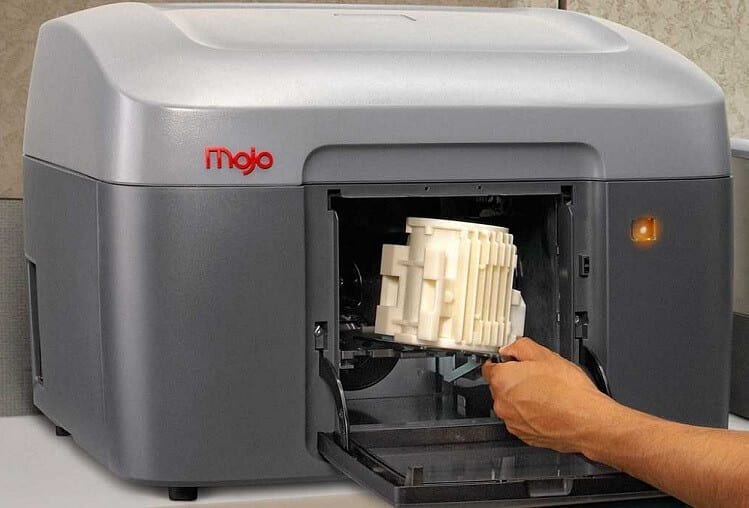 Man using a 3D printer