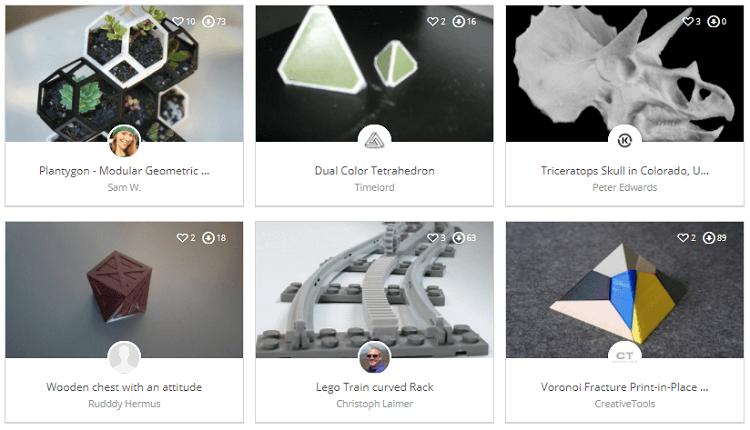 YouMagine STl files for 3D printing