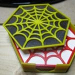 3D printed spider web coasters