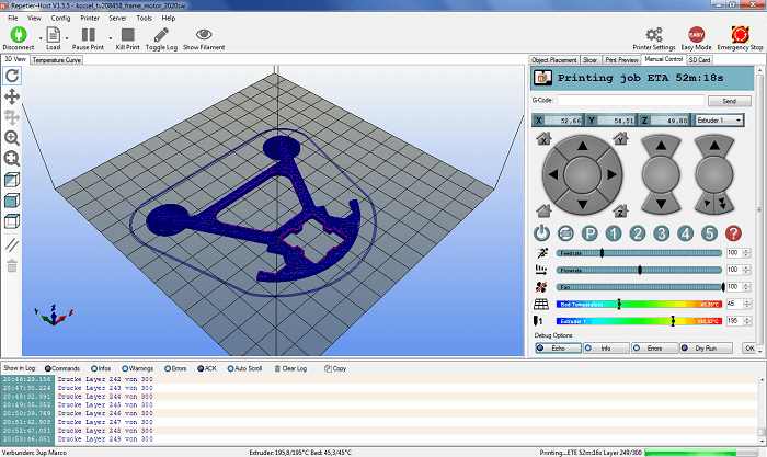 Repetier, one of the best 3D printing software