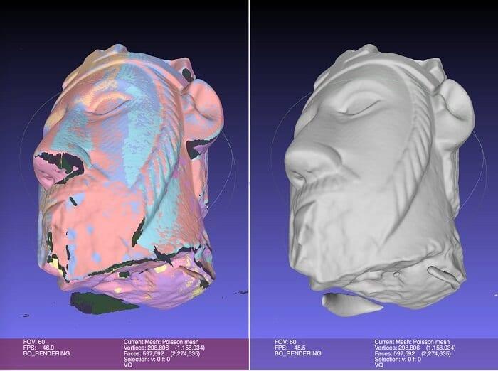 MeshLab 3D printing software